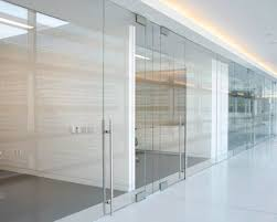 Glass conference rooms Glass Doors Conference Room Walls Cubicles Crlarch Interior Office Partitions