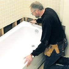 installing a new bathtub how to replace on concrete slab