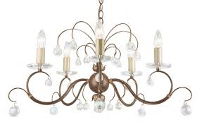 lunetta 5 light crystal chandelier elstead lighting
