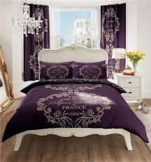 new purple paris designed bedding king size duvet cover bed set