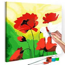 Malen Nach Zahlen Mohnblumen Wallpaper Dreamsde