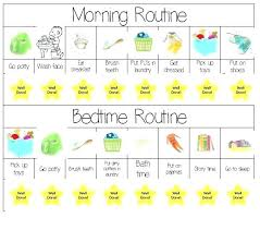Toddler Schedule Chart Printable Schedule Chart Blank Table Chart Free Schedule