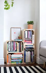 bookshelf ideas for small rooms how to make sy cardboard shelves wall plans build simple bookcase homemade