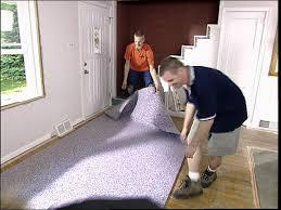 cut carpet padding in strips