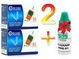 Подобрать контрольный раствор для глюкометра Оптиум one touch  2 упаковки тест полосок Клевер Чек универсальные контрольный раствор клевер чек
