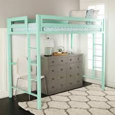 Loft Bedroom Furniture Walker Edison Furniture Company Bentley Twin Metal Loft Bed