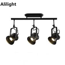 industrial track lighting industrial track lighting zoom. retro loft vintage led track light rural industrial lamp bar clothing personality spotlight absorb rail lighting zoom