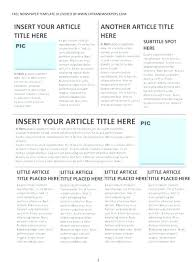 Newspaper Article Word Template Fresh Office Newspaper Template Open Newsletter Snowflake