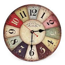 Retro Kitchen Wall Decor Aliexpresscom Buy Vintage Wooden Wall Clock Shabby Chic Rustic