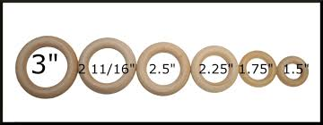 100 wooden rings in various sizes wedding game ring toss teethers