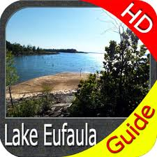 Eufaula Lake Oklahoma Hd Gps Fishing Offline Chart By Flytomap