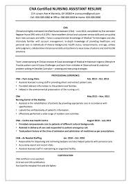 Cna Resumes 8 Objective Resume Certified Nursing Assistant Resume
