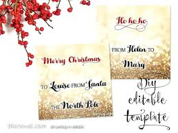 Free Printable Gift Tag Templates For Word Free Printable Merry Christmas Tags Templates Gift Tag Template