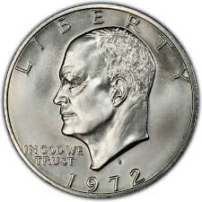1972 Eisenhower Silver Dollar Value Chart 1972 Eisenhower Dollar Values And Prices Past Sales