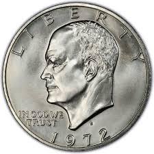 1972 Eisenhower Dollar Value Chart 1972 Eisenhower Dollar Values And Prices Past Sales