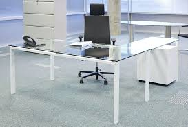 glass desk with shelves wonderful glass top computer desk with storage