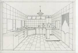 One Point Perspective Interior One Point Perspective Living Room How To  Draw A Perspective For A