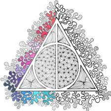 Small Picture Harry Potter Deathly Hallows PDF Coloring Page