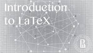Документы и презентации в latex introduction to latex coursera