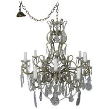 french crystal beaded louis xv style chandelier circa 1930s