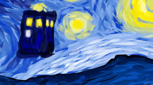 tardis vincent van gogh starry night doctor who sd art you