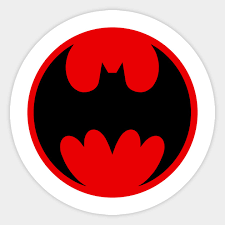 ninja batman symbol sticker
