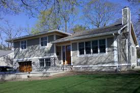 Great Split Level Exterior Remodel In NY Trim And Siding Looks - Exterior remodeling