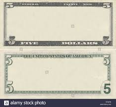 5 Dollar Design Clear 5 Dollar Banknote Pattern For Design Purposes Stock