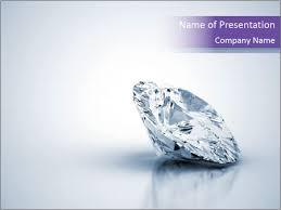 Precious Blue Diamond Powerpoint Template Backgrounds Google