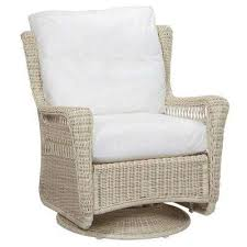 park meadows white swivel rocking wicker outdoor patio lounge chair with cushions included choose your