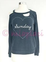 Chaser Size Chart Details About Nwt Chaser Love Knit Heart Sunday Deconstructed Pullover Cw6762 Avalon Blue S