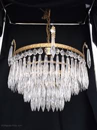 antique 4 tier waterfall crystal chandelier antique waterfall chandeliers
