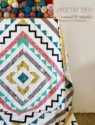 Free Sewing Patterns | DIY Room Decor Ideas | Geometric Quilt ... & Photo 7 of 10 Free Sewing Patterns | DIY Room Decor Ideas | Geometric Quilt  Tutorial | DIY Projects & Adamdwight.com