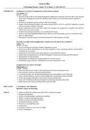Marketing Experience Resume Marketing Student Resume Samples Velvet Jobs