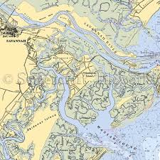 Tybee Island Tide Chart Georgia Savannah Isle Of Hope Nautical Chart Decor
