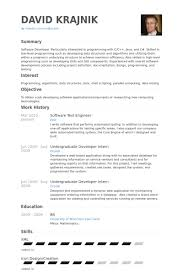 Test Engineer Sample Resume