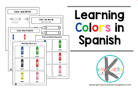 Clean, modern color flash cards for fun preschool learning. Learning Colors In Spanish Worksheet