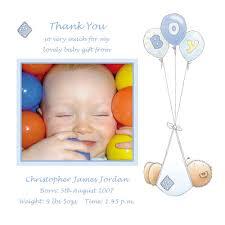 Baby Boy Thank You Cards Baby Card T2b Boy Thank You Card Buy Personalised Baby Cards On