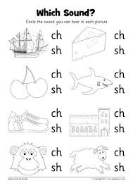 A worksheet where children complete the words by writing the initial sounds ch, sh, th, ph or wh. Which Sound Worksheets Ch And Sh Sb12216 Sparklebox