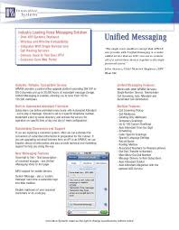 Attendant Sheet Apmax Unified Messaging Product Sheet Innovative Systems