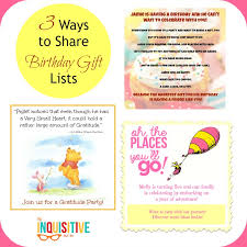 3 Ways To Share Birthday Gift Lists The Inquisitive Mom
