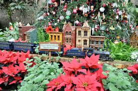 a train display from past at the u s botanic garden