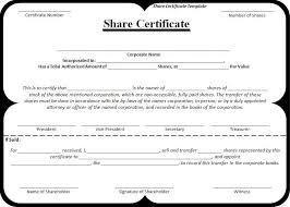 Shareholder Certificate Template Shareholder Certificate Template Barca Fontanacountryinn Com