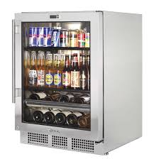 beverage refrigerator with glass door