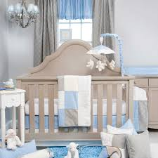 glenna jean starlight 3 piece crib bedding set blue white grey
