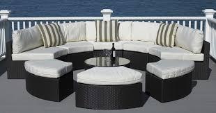 round wicker patio furniture