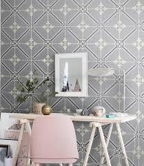 grey moroccan vinyl wallpaper