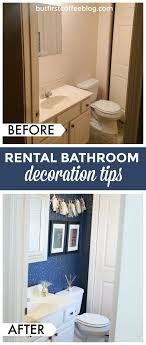 rental apartment bathroom ideas. Guest Bathroom Makeover | Rental Decor Tips Apartment Ideas U