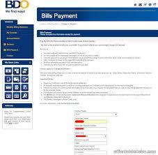 pay pldt bill thru bdo credit card