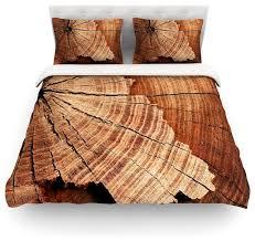 susan sanders rustic dream brown wood duvet cover cotton queen rustic